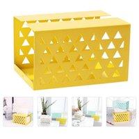 1pc boîte de tissus ménagers boîte créativité boîte de salle de bain de salle de bain (jaune)