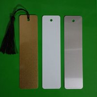 Bookmark Without Tassel Sublimation DIY White Blank Metal Bookmarks DH9585