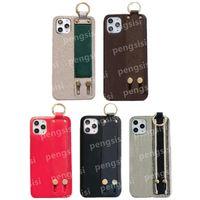 Top Leder-Designer-Telefon-Hüllen für iPhone 12 Pro Max Mini 11 XS XR x 8 7 Plus Mode-Armband drucken Back Cover Case Luxus Mobile Shell