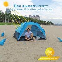 천막과 쉼터 캠핑 천막 방수 방수 자외선 야외 해변 쉼터 태양 그늘 낚시 하이킹 여행 3-4 사람