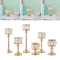 Tenedor de vela de hierro de estilo europeo Soporte de pie candelabros adornos de casa