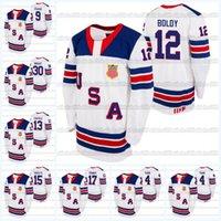 USA 2021 IIHF WJC Gold Winner White Hockey Jersey Alex Turcotte Matthew Beniers Matthew Bold Hunter Skinner Trevor Zegras Spencer Ritter
