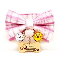 Dog Tag,ID Card Personalized ID Free Engraving Cat Collar Safety Breakaway Small Cute Canvas Adjustable For Puppy Kittens Necklace