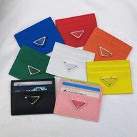 Mode Design Dreieck Mark Karteninhaber Kreditwallet Leder Passportabdeckung ID Business Mini Pocket Reise Für Männer Frauen Geldbörse Fall Führerschein