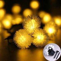 Strings Solar Led Light Outdoor Garland Dandelion Fairy Lights String Festoon Christmas Decor