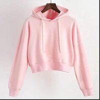 black pink white hoodie women kpop solid aesthetic sweatshir...