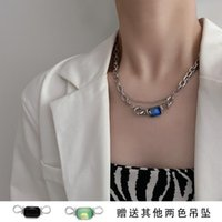 Pendant Necklaces Three-color Multi-wearing Switchable Gem Necklace For Women Pearl Jewelry Stainless Steel