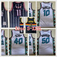 Mitchell e Ness 1995 All-Star Basquete Shawn 40 Kemp Jerseys Retro 95-96 Branco 50 David 10 Charles Robinson Barkley Jersey Tamanho S-XXXL