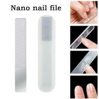 Fichiers à ongles Professionnel Nano Verre Fichier Tampon Transparent Panchant Panissage Meulage Manucure
