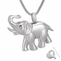 9743 نقية الفولاذ المقاوم للصدأ حرق مجوهرات الفيل قلادة الفيل قلادة