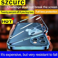 For iPhone 13 Pro MAX Case New360° Full Protection Tempered Magnetic Adsorption Glass Phone sleeve.iPhone 11 12 Mini Phone cover G0929