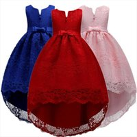 Girls Bridesmaid For Kids Wedding Girl Dress Party Gown Flower Elegant Princess Trailing Pageant Formal