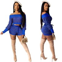 Women's Tracksuits ZITY Silk Knitted Two Pieces Set Slash Neck Crop Top Beach Knit Sashes Short Pants Crocheted Wear Crochet 2