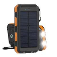 50000mAh 소설 태양 광 발전 방수 전원 은행 2A 출력 휴대 전화 휴대용 충전기