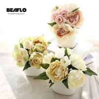 Decorative Flowers & Wreaths Wedding Bouquet Artificial Silk Flower Peony Fake Table Decoration Accessories Arrangement Home Garden Party De