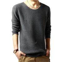2021 Neue Ydtomm Marke Kleidung Mode Pullover Einfache Massivfarbe Oansatz Slim Fit Casual Pullover Männer Pullover Stricken Herren XXL W2FL