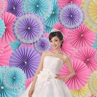 """5 шт. / Лот 10 """"(25см) тканевая бумага вентилятор цветы для свадьбы день рождения украшения три слоя складной бумаги ремесло поделки домашний декор"""