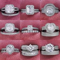 Love Ring 925 Sterling Silver Luxury Bold Big Wedding Rings Set For Bridal Women Engagement African Finger Christmas present Jewels R4428