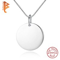 BELAWANG 925 Sterling Silber Personalisierte Name Anhänger Neckalce Für Frauen Liebhaber Gravier-Brief Custom Halskette Schmuck