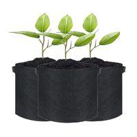 TOUNTERS POTS 3-PACK 7 GALONLAR kalınlaşmış Nonwoven kumaş bitki sebze bahçesi açık veya iç mekan kullanımı için kolları ile çanta büyümek