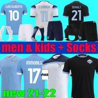 2000 1998 1991 1992 Retro Mancini 2021 2022 Lazio Futbol Formaları 21 22 Immobe Luis Bastos Alberto Sergej Futbol Gömlek Erkekler Çocuklar Kiti Tam Set Çorap Üniforma