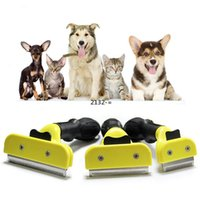 S M LYellow Pet Hair Brushes For Dog Cat Small Animal Grooming Comb Cleaning Brush Hair Clipper Tools Furmines Cat Pet Supply LLF10983