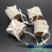 6 unids de encaje anillo anillo hebilla mesa boda arpillera anillo anillo fiesta decoración