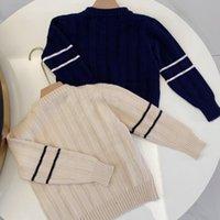 NewArrival Designers children Pullover hoodie stripes plaid Sweater coat Boy Hoodies Kids Knit shirt Baby Boys Cotton Thin Sweatshirts Jacket Outwear