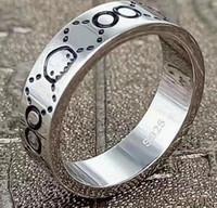 Marcas Anel de Designer 925 Sterling Silver Personalidade Vintage Anéis Luxo Homens Mulheres Jóias Charm Boyfriend Presentes com caixa