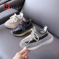 Dimi 2021 nuove scarpe per bambini per bambini scarpe casual moda moda traspirante maglieria morbida inferiore antiscivolo ragazzi ragazze sneakers 210311