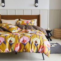 Bedding Sets Bonenjoy Set Luxury Egyptian Cotton Bedsheet Queen King Size Duvet Cover Bed Linen Pillowcase Flower Printed