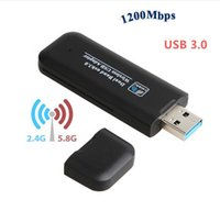 USB WI-FI Finders Wireless Adapters RTL8812BU Soft AP USB3.0 Network Adapter 1200Mbps Dual Band WiFi Dongle Receiver for Laptop Desktop