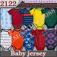 탑 21-22 아기 축구 유니폼 2122 프랑스 이탈리아 스페인 독일 6-18 개월 보물 축구 셔츠 크롤링 M-U BB 천재 자식 장난 꾸러기 유니폼