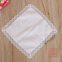25 cm beyaz dantel ince mendil pamuk havlu kadın düğün hediyesi parti dekorasyon bez peçete DIY düz boş FWB6778 1466 T2