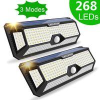 Solar Lamps Light 268 308 LEDs Waterproof IP 65 Outdoor Panel Night Lights Wall Lamp With PIR Motion Sensor For Garden Street
