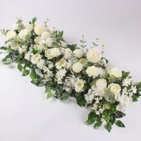 Decorative Flowers & Wreaths 50 100cm Artificial Flower Custom Wedding Wall Arrangement Supplies Silk Peony Row Decor For T Station Iron Arc