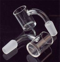 XL Quartz Bangers Flat Top Rökning 5mm tjock botten 10mm 14mm 18mm led 45 90 grader för DAB Rigglas Bongs