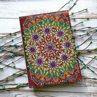 Elmas Boyama DIY Mozaik Dizüstü Özel Şekilli Çiçek Mandala Desenleri A5 Günlüğü Kitap Nakış Hediye