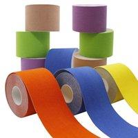 Coupeaux à genouils Support de bandage auto-adhésif pour la gymnastique Fitness Type 2 Taille Kinésiologie Ruban Athlétique Muscle élastique