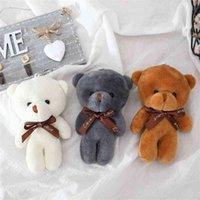 12Cm A Tie Knuffel Teddy Bear Keychain Pp Katoon Soft stuffed Bears Toy Pop Toys Gifts