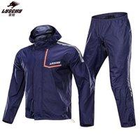 Yağmurluklar Lyschy Moda Anti-yağmur fırtınası Motosiklet Rider Yağmurluk Aşınmaya dayanıklı Yansıtıcı Su Geçirmez Ceket ve Pantolon Suit