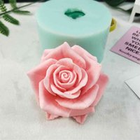 3D bella fiore rosa stampo in silicone bouquet di rose sapone SACL SACLY RESIN GYPSUM Chocolate Candela 210903