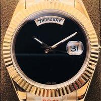 Männerneedle mechanische Uhr feiner Stahlgehäuseabdeckung Ring-Mund glatter doppelter Kalender Saphirglas Drei Perlengürtel (super wasserdicht) 41mm