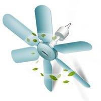 Mini ventilador de techo súper tranquilo 6 Hoja Hogar Muese Mini Fan ABS Colgando Energía Ahorro 220V 7W