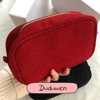 الأزياء سستة التسلق حقيبة المواد أنيقة ج الأزياء الجمال التجميل حالة ماكياج منظم مع هدية مربع جميلة تخزين حقيبة diy ل vip