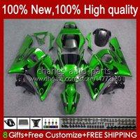 Kit de feiras para Yamaha YZF R6 R 6 Green Chamas YZF600 600CC 98-02 Bodywork 1No.39 YZF 600 CC YZF-600 YZFR6 98 99 00 01 02 YZF-R6 1998 1999 2000 2002 2002