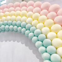 5-дюймовый macaron конфеты пастельные воздушные шары латекс круглый гелий воздушный шар арки декор день рождения вечеринка балюны оптом