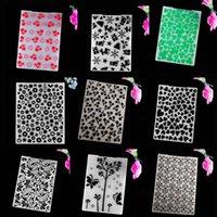 Tools artisanaux Collection de dossiers de gaufrage AZSG 2 de coloré pour dossier de scrapbook DIY Carte Tool Modèle en plastique
