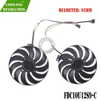 95mm T129215SU PLD10010S12HH FDC10U12S9-C DC12V 4PIN Grafik Fan ASUS Dual Rx 5500XT için