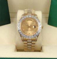2022 Uomini più venduti classici più caldi 43mm orologio diamantato in acciaio inox fibbia pieghevole da uomo Automatic Sport meccanici Orologi Factory221